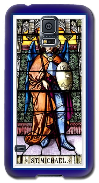 Saint Michael The Archangel Stained Glass Window Galaxy S5 Case