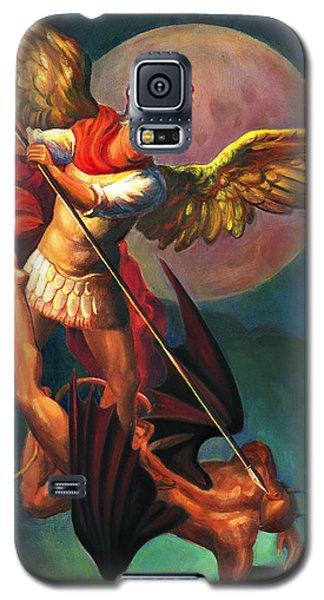 Saint Michael The Warrior Archangel Galaxy S5 Case by Svitozar Nenyuk