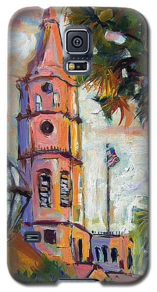 Galaxy S5 Case featuring the painting Saint Michaels Church Charleston Sc Oil Painting by Ginette Callaway