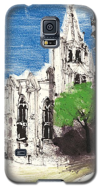 Galaxy S5 Case featuring the painting Saint Pierre Avignon Provence by Martin Stankewitz