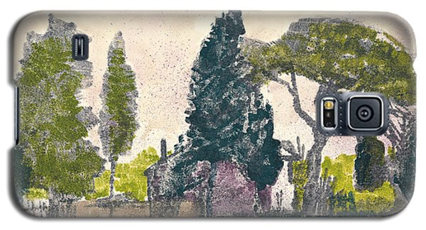 Galaxy S5 Case featuring the painting Saint Remy De Provence Landscape by Martin Stankewitz