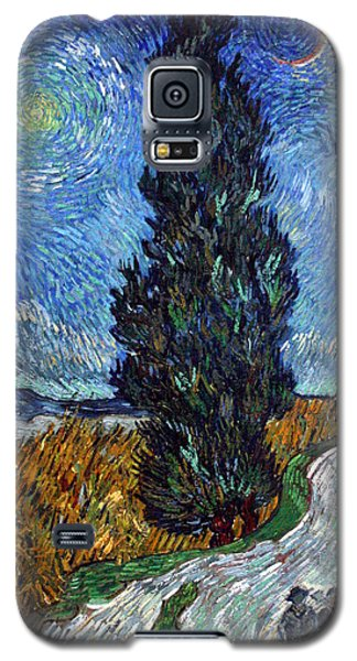 Saint-remy Road With Cypress And Star Galaxy S5 Case