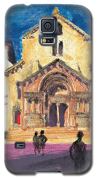 Galaxy S5 Case featuring the painting Saint Trophime Arles Provence by Martin Stankewitz