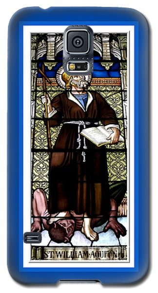Saint William Of Aquitaine Stained Glass Window Galaxy S5 Case