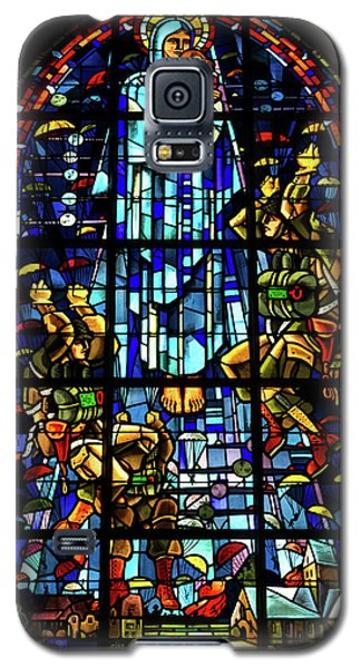 Sainte-mere-eglise Paratrooper Tribute Stained Glass Window Galaxy S5 Case