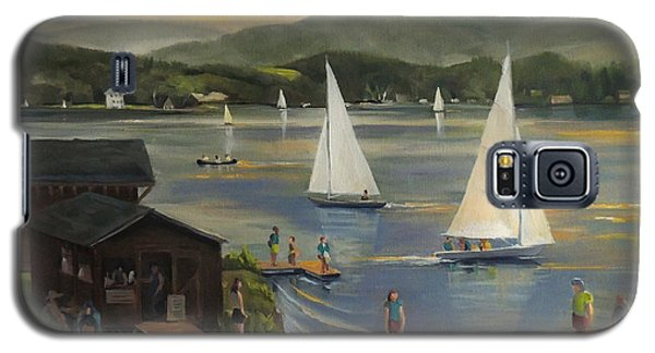Sailing At Lake Morey Vermont Galaxy S5 Case by Nancy Griswold