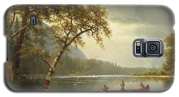 Salmon Galaxy S5 Case - Salmon Fishing On The Caspapediac River by Albert Bierstadt