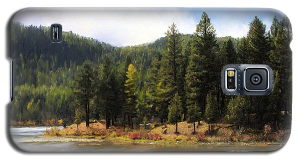 Salmon Lake Montana Galaxy S5 Case by Susan Kinney