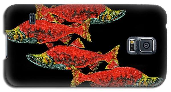 Salmon Season Galaxy S5 Case by Debbie Chamberlin