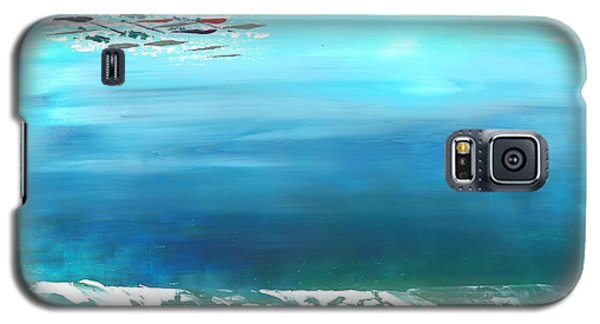 Galaxy S5 Case featuring the painting Salt Air by Corinne Carroll
