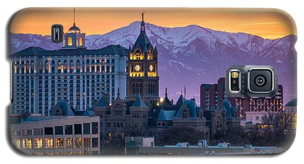 Salt Lake City Hall At Sunset Galaxy S5 Case
