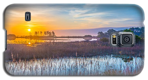 Galaxy S5 Case featuring the photograph Salt Marsh Sunrise II by Steven Ainsworth