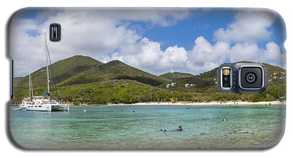 Galaxy S5 Case featuring the photograph Salt Pond Bay Panoramic by Adam Romanowicz