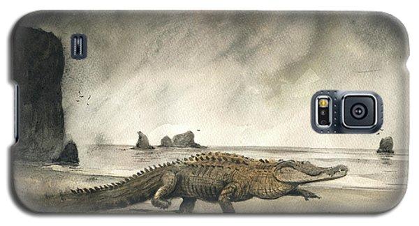 Alligator Galaxy S5 Case - Saltwater Crocodile by Juan Bosco