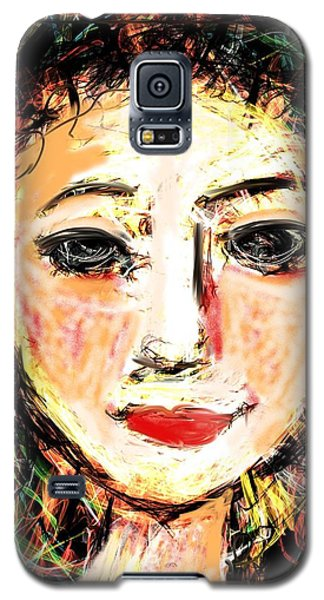 Galaxy S5 Case featuring the digital art Samantha by Elaine Lanoue