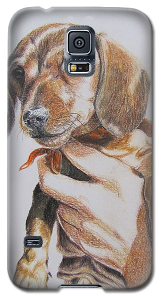 Galaxy S5 Case featuring the drawing Sambo by Karen Ilari