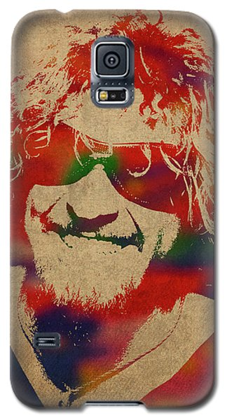 Van Halen Galaxy S5 Case - Sammy Hagar Van Halen Watercolor Portrait by Design Turnpike