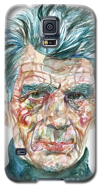 Galaxy S5 Case featuring the painting Samuel Beckett Watercolor Portrait.10 by Fabrizio Cassetta