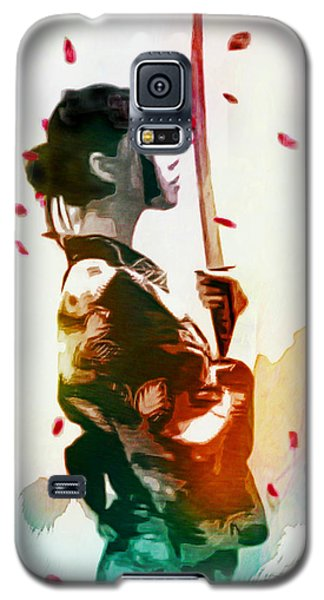 Samurai Girl - Watercolor Painting Galaxy S5 Case