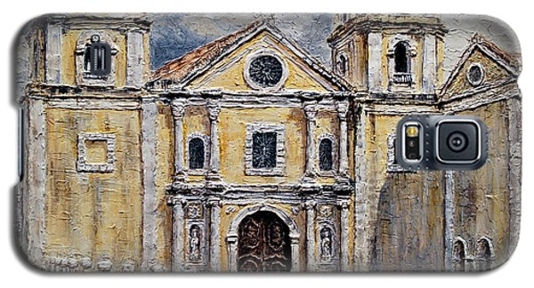Galaxy S5 Case featuring the painting San Agustin Church 1800s by Joey Agbayani