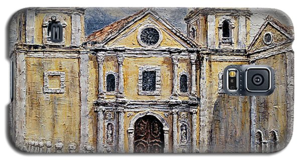 San Agustin Church 1800s Galaxy S5 Case by Joey Agbayani