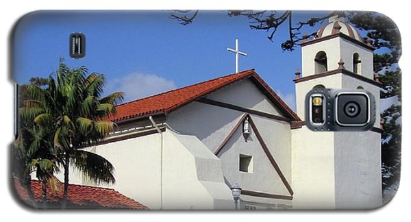 Galaxy S5 Case featuring the photograph San Buenaventura Mission by Mary Ellen Frazee