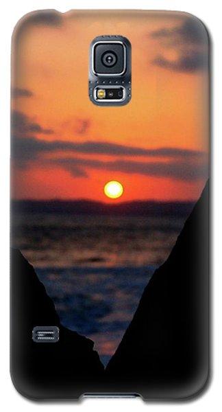 San Clemente Beach Rock View Sunset Portrait Galaxy S5 Case