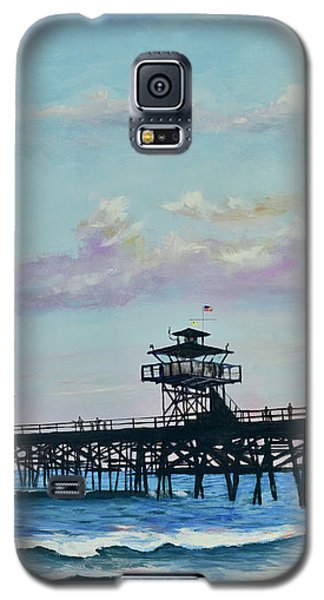 Galaxy S5 Case featuring the painting San Clemente Evening by Mary Scott