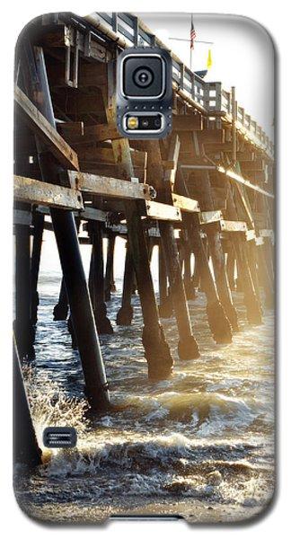 Galaxy S5 Case featuring the photograph San Clemente Pier Magic Hour by Kyle Hanson
