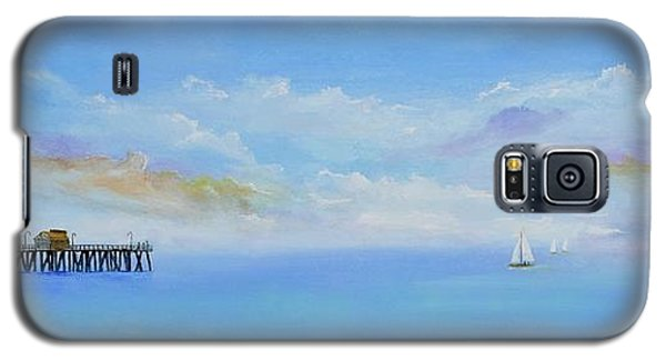 Galaxy S5 Case featuring the painting San Clemente Sail by Mary Scott