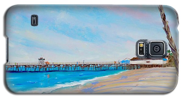 Galaxy S5 Case featuring the painting San Clemente Walk by Mary Scott