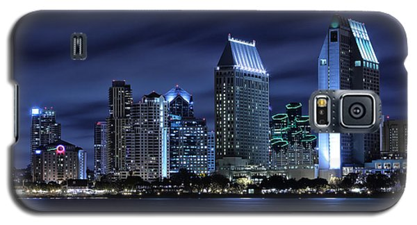 City Scenes Galaxy S5 Case - San Diego Skyline At Night by Larry Marshall