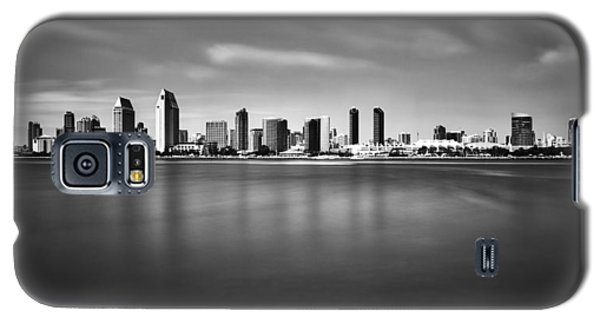 Galaxy S5 Case featuring the photograph San Diego Skyline - Black And White by Photography  By Sai