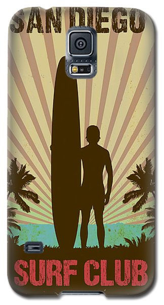 Galaxy S5 Case featuring the digital art San Diego Surf Club by Greg Sharpe