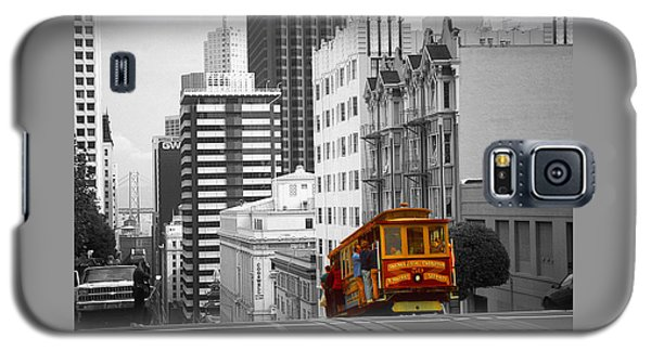 Red Cable Car - San Francisco Highlight Galaxy S5 Case by Art America Gallery Peter Potter