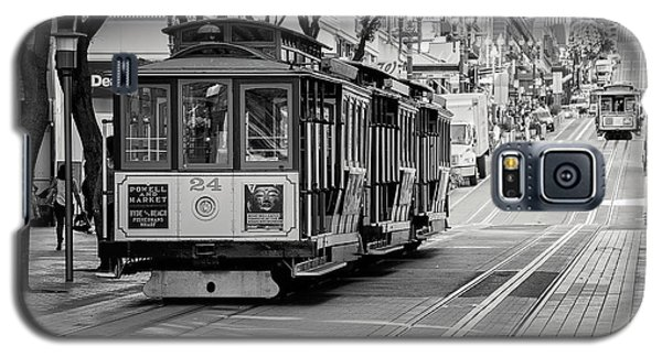 Galaxy S5 Case featuring the photograph San Francisco Cable Cars by Eddie Yerkish