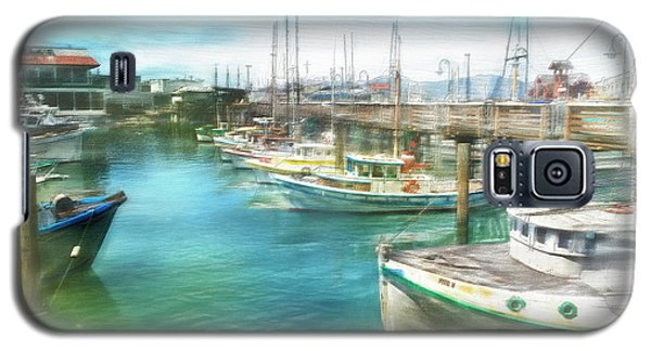 Galaxy S5 Case featuring the digital art San Francisco Fishing Boats by Michael Cleere