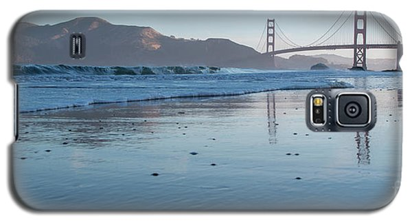 San Francisco Golden Gate Bridge Reflected On Baker's Beach Wet  Galaxy S5 Case