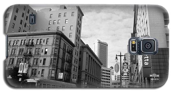 San Francisco - Jessie Street View - Black And White Galaxy S5 Case by Matt Harang