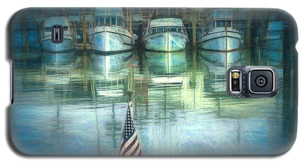 Galaxy S5 Case featuring the drawing San Francisco Pier by Michael Cleere
