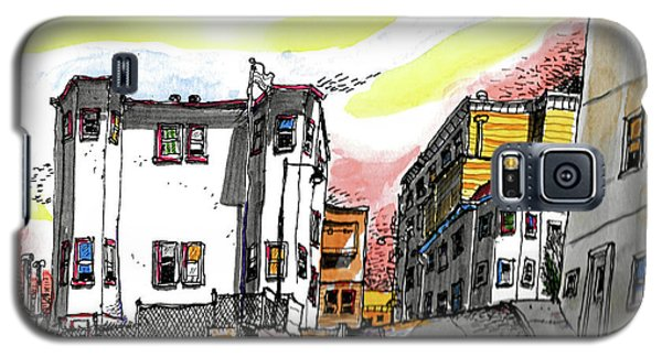 Galaxy S5 Case featuring the painting San Francisco Side Street by Terry Banderas