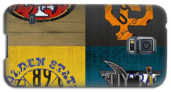 San Francisco Sports Fan Recycled Vintage California License Plate Art 49ers Giants Warriors Sharks Galaxy S5 Case by Design Turnpike