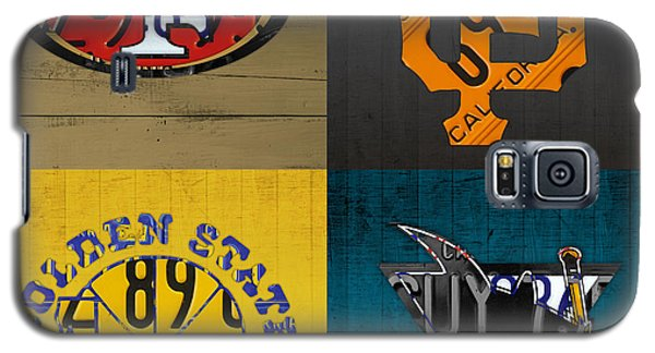 San Francisco Sports Fan Recycled Vintage California License Plate Art 49ers Giants Warriors Sharks Galaxy S5 Case