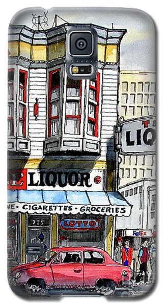 Galaxy S5 Case featuring the painting San Francisco Street Corner by Terry Banderas