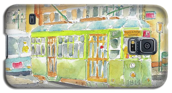 Galaxy S5 Case featuring the painting San Francisco Streetcar by Pat Katz