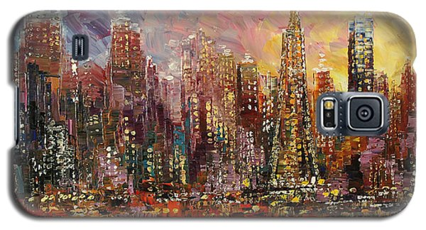 Galaxy S5 Case featuring the painting San Francisco by Tatiana Iliina