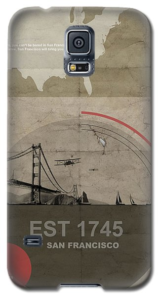 Pyrography Galaxy S5 Cases - San Fransisco Galaxy S5 Case by Naxart Studio