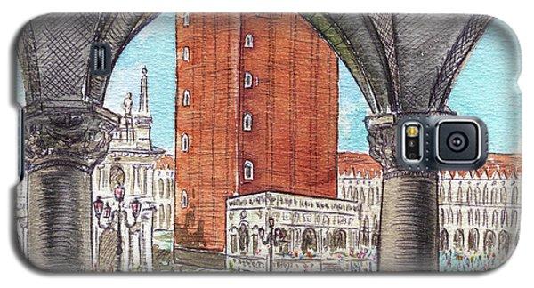 Galaxy S5 Case featuring the painting San Marcos Square Venice Italy by Irina Sztukowski