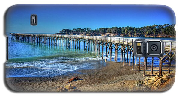 San Simeon Pier California Coast Galaxy S5 Case by James Hammond