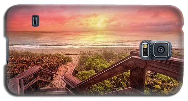 Galaxy S5 Case featuring the photograph Sand Dune Morning by Debra and Dave Vanderlaan